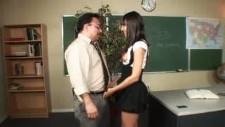 Estudante faminta pra foder o professor