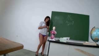 O sexo anal da professora