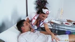 Enfermeira bem gulosa