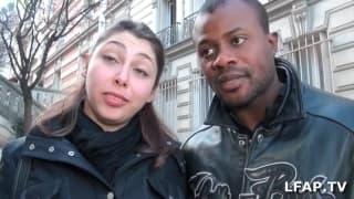 Prazeres entre um casal interracial