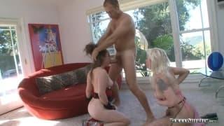 Charlotte Vale e Lorelie Lee desfrutam do sexo com Rocco