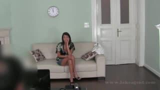 Pornô amador em um video de casting porno