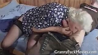 Uma senhora de idade que gosta de sexo