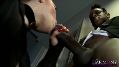 Com dois pénis enormes Liza Del Sierra adora