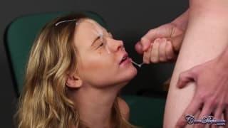 Uma ejacluação na cara dela em full HD!