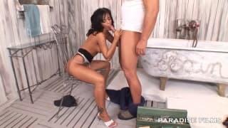 Black Angelika com o vizinho