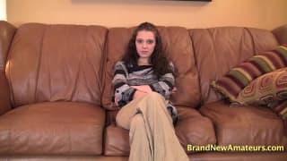 Bella e um casting porno delicioso