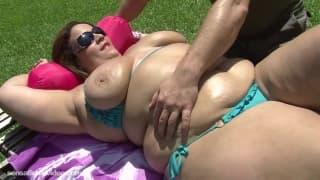 Uma gorda com vontade de sexo