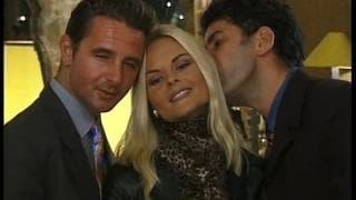 Katja Kean com o marido e um amigo