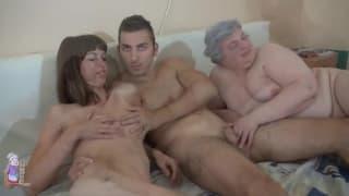 Mature saggy tits fucking mom