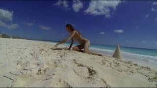 Sessao de ioga na praia!