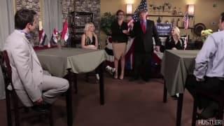 Uma cena porno política para desfrutar!