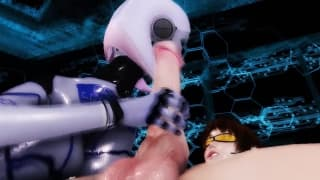 Hentai - esta criatura feminina chupa rola!
