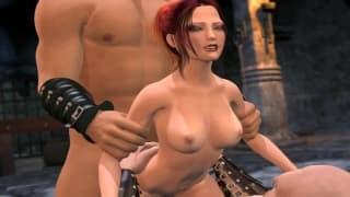 Uma orgia sexual em um hentai muito legal