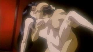 Um samurai quer ejacular nessa bela prostituta