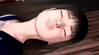 Jovem que gosta de sexo em um hentai