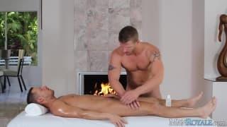 Massagem com lareira é melhor