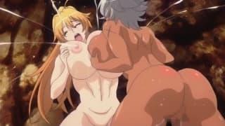 Peitos enormes e muito prazer em sexo hentai