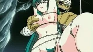 Moças Hentai que desfrutam com monstros