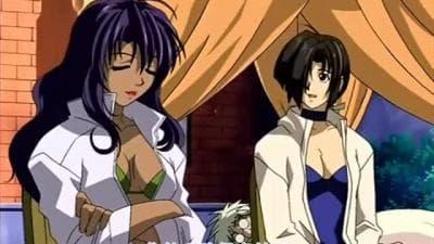 Um hentai com uma sedutora morena fodida