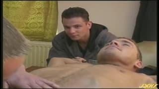 Alex, Stefan e Josef em um trio sexual